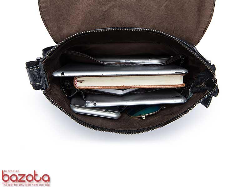Chứa được rất nhiều đồ đạc, vật dụng cá nhân như: máy tính bảng, sổ sách, điện thoại, pin dự phòng, kính....