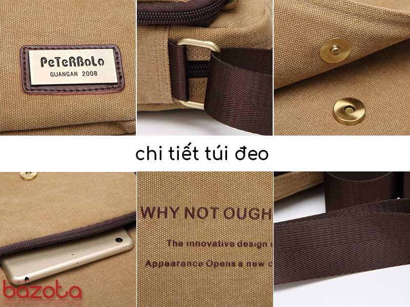 Túi đeo chéo vải bố cao cấp TV04 là sản phẩm chính hãng PeterBolo nên các chi tiết hoàn thiện của túi hết sức kỹ càng, cao cấp